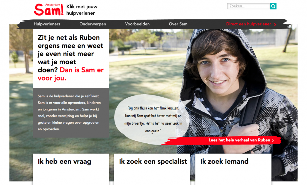 Website sam-amsterdam.nl